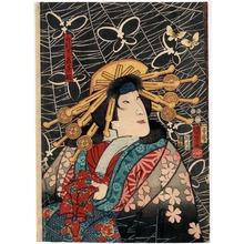 Utagawa Kuniyoshi: 「船越実ハ若菜姫」 - Ritsumeikan University