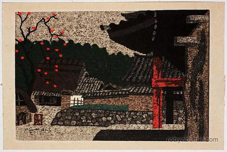 Asai Kiyoshi: Temple and Persimmon Tree - Robyn Buntin of Honolulu