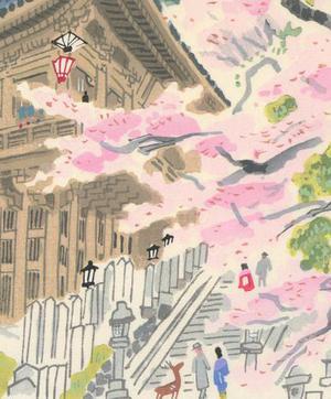 無款: Nara Temple - Robyn Buntin of Honolulu