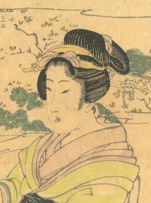 菊川英山: Bijinga (Beautiful Woman) - Robyn Buntin of Honolulu