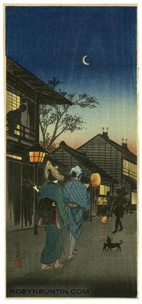 Watanabe Shotei: Evening at Shinagawa - Robyn Buntin of Honolulu