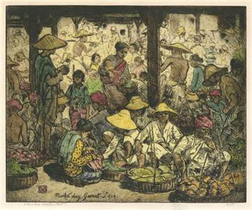 Charles Bartlett: Market Day, Garnet, Java - Robyn Buntin of Honolulu