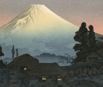 渡辺省亭: Mt. Fuji from Mizukubo, Evening - Robyn Buntin of Honolulu