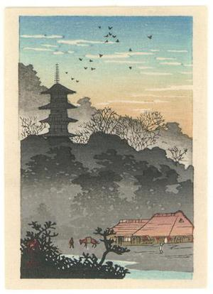 Watanabe Shotei: Evening Glow on Pagoda - Robyn Buntin of Honolulu