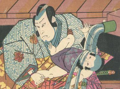 落合芳幾: Kabuki Scene - Robyn Buntin of Honolulu