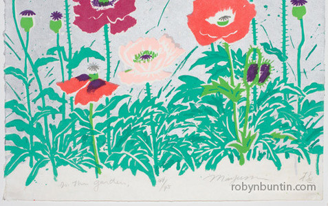 Oda Mayumi: In The Garden, They Came Here (44/45) Diptych - Robyn Buntin of Honolulu