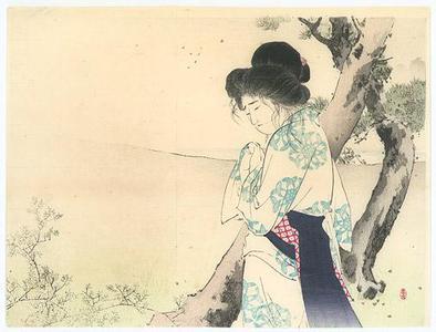 Mizuno Toshikata: Woman Near a Tree - Robyn Buntin of Honolulu
