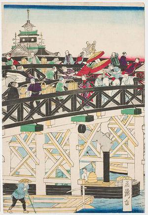Utagawa Yoshitora: Nihonbashi in Tokyo - Robyn Buntin of Honolulu