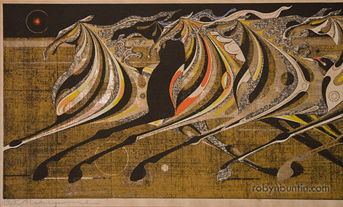 Nakayama Tadashi: Running Horses of the Festival (11/69) - Robyn Buntin of Honolulu