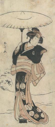 Katsukawa Shunsho: Beauty with Umbrella - Robyn Buntin of Honolulu