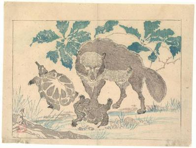 Kawanabe Kyosai: Wolf with Turtles - Robyn Buntin of Honolulu