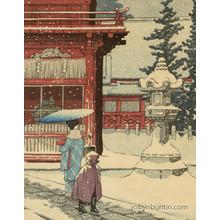 川瀬巴水: Snow at Nezu-Gongen Shrine - Robyn Buntin of Honolulu