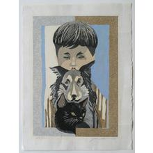 関野準一郎: Boy with Dog and Cat - Robyn Buntin of Honolulu