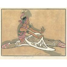Bertha Lum: Seated Javanese Dancer, 1933 - Robyn Buntin of Honolulu