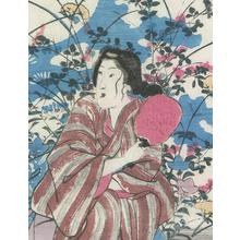 Utagawa Yoshikazu: A Beauty with Autumn Flowers - Robyn Buntin of Honolulu