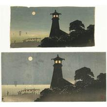渡辺省亭: Lighthouse (Two versions) - Robyn Buntin of Honolulu