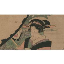 歌川国安: Geisha with Attendant - Robyn Buntin of Honolulu