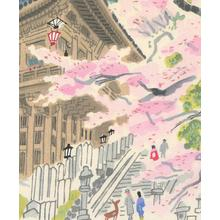 無款: Nara Temple - Robyn Buntin of Honolulu