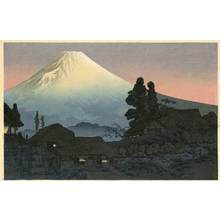 渡辺省亭: Mt. Fuji from Mizukubo, Evening - Robyn Buntin of Honolulu