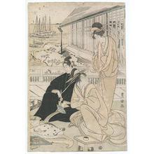 Utagawa Toyokuni I: Courtesans in Teahouse - Robyn Buntin of Honolulu