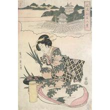 Kikugawa Eizan: Lady With Irises - Robyn Buntin of Honolulu