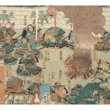 歌川国貞: The Battle of Uji River - Robyn Buntin of Honolulu
