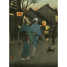 渡辺省亭: Evening at Shinagawa - Robyn Buntin of Honolulu