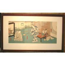 Utagawa Hirosada: Kabuki Actors with a shamisen - Robyn Buntin of Honolulu