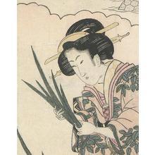 菊川英山: Lady With Irises - Robyn Buntin of Honolulu