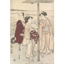 勝川春潮: Ichikawa Danjuro and Courtesans - Robyn Buntin of Honolulu