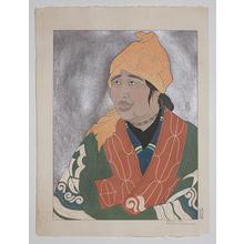 Paul Jacoulet: Vielle Aino, Chikabumi, Hokkaido, Japon 53/350 - Robyn Buntin of Honolulu