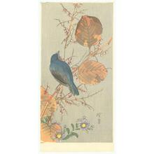 Kawanabe Kyosui: Blue Bird on Autumn Branch - Robyn Buntin of Honolulu