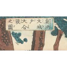歌川芳虎: The Great Battle of Oki-shu - Robyn Buntin of Honolulu