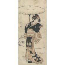 勝川春章: Beauty with Umbrella - Robyn Buntin of Honolulu