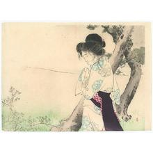 Mizuno Toshikata: Woman Near a Tree - Robyn Buntin of Honolulu