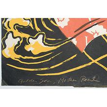 Oda Mayumi: Golden Sea Diptych - Robyn Buntin of Honolulu