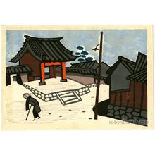 Asai Kiyoshi: Old Woman in Snow - Robyn Buntin of Honolulu
