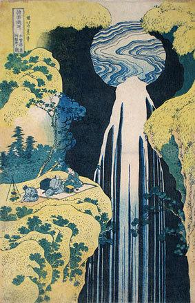 Katsushika Hokusai: A Journey to the Waterfalls in All the Provinces: Amida Waterfall on the Kisokaido Road (Shokoku Taki Meguri: Kisoji no oku Amidagataki) - Scholten Japanese Art