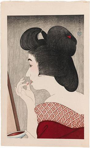 鳥居言人: Rouge (Beni) - Scholten Japanese Art