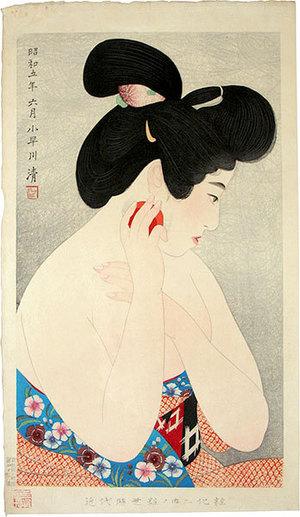 Asai Kiyoshi: Styles of Contemporary Make-up: no. 2, Make-up (Kindaijisesho no uchi: ni, Kesho) - Scholten Japanese Art