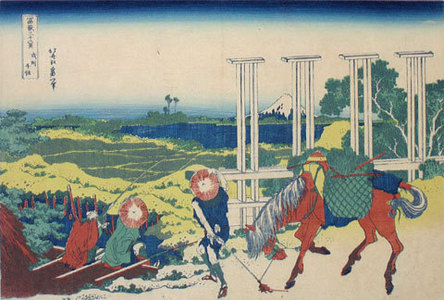 葛飾北斎: Thirty-Six Views of Mt. Fuji: Senju in Musashi Province (Fugaku sanju-rokkei: Bushu Senju) - Scholten Japanese Art