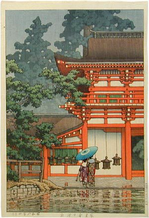 川瀬巴水: Kasuga Shrine in Nara (Nara haruhu jinja) - Scholten Japanese Art