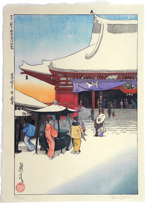 Paul Binnie: Snow, Moon and Flowers in Downtown Tokyo: Snow at Asakusa (Shitamachi setsugekka: Asakusa no yuki) - Scholten Japanese Art