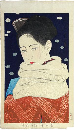 朝井清: Styles of Contemporary Make-up: no. 4, Pupil of the Eye (Kindaijisesho no uchi: Hitomi) - Scholten Japanese Art