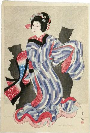 Natori Shunsen: Collection of Shunsen Portraits: Nakamura Jakuemon as Oshichi (Shunsen Nigao-e Shu: Nakamura Jakuemon) - Scholten Japanese Art