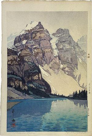 Yoshida Hiroshi: The United States Series: Lake Moraine (Beikoku shirizu: Morrenko) - Scholten Japanese Art