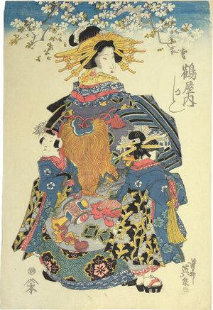 渓斉英泉: Kashiku of the Tsuruya - Scholten Japanese Art