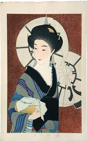 鳥居言人: After a Bath (Yugaeri) - Scholten Japanese Art