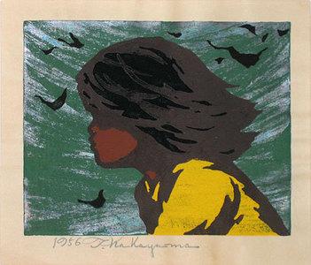 Nakayama Tadashi: Girl in the Wind - Scholten Japanese Art