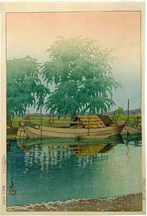 川瀬巴水: Morning at Tsuchiura (Tsuchiura no asa) - Scholten Japanese Art